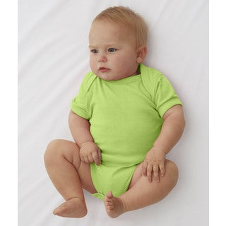 Rabbit Skins Infant Key Lime Cotton Rib Lap-shoulder Bodysuit