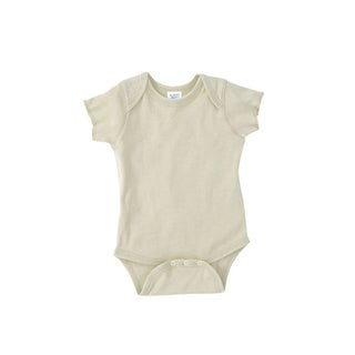 Rabbit Skins Infant Baby Rib Lap Shoulder Natural Bodysuit