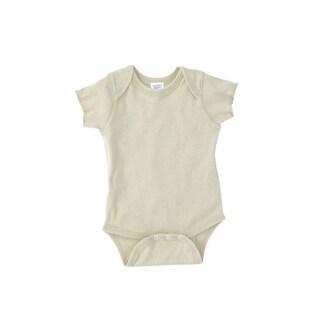Rabbit Skins Infant Baby Rib Lap Shoulder Natural Bodysuit (5 options available)
