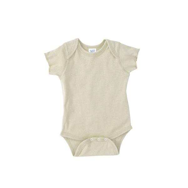 Rabbit Skins Infant Baby Rib Lap Shoulder Natural Bodysuit