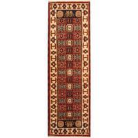 Herat Oriental Indo Hand-knotted Kazak Wool Runner (2'2 x 6'8) - 2'2 x 6'8