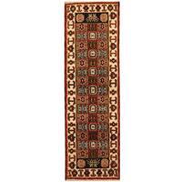 Herat Oriental Indo Hand-knotted Kazak Wool Runner (2'1 x 6'9) - 2'1 x 6'9