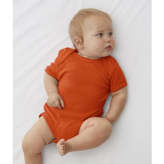 Rabbit Skins Orange Cotton/Polyester Baby Rib Lap Shoulder Infant Bodysuit