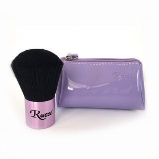 Rucci Kabuki Brush with Purple Purse