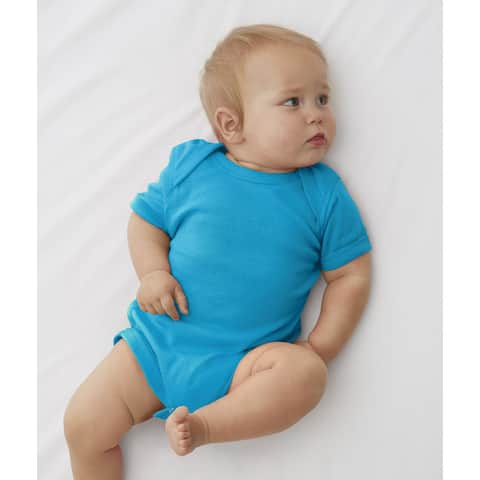 Rabbit Skins Infants Blue Cotton Bodysuit