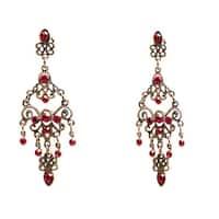 Handmade Colored Cubic Zirconia Chandelier Earrings (China)