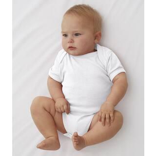 Rabbit Skins White Cotton/Polyester Rib Lap Shoulder Infant Bodysuit