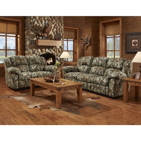 Shop Sofa Trendz Chelsea Camouflage 3 Piece Reclining Sofa Set