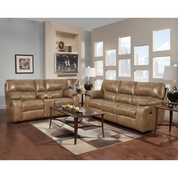 Sofa Trendz Conan Taupe Reclining Sofa and