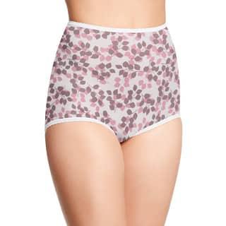 Skimp Skamp Women's Pink/Brown Nylon/Cotton/Spandex Tender Bud Print Brief Panty|https://ak1.ostkcdn.com/images/products/12137317/P18993868.jpg?impolicy=medium