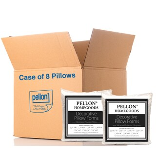 Pellon PPI Decorative 12-inch x 16-inch Microfiber Shell Pillow Form (Case of 8)