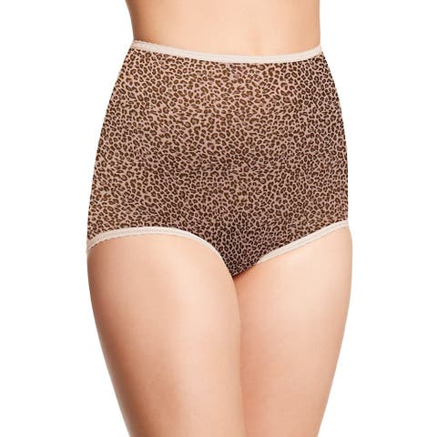 Skimp Skamp Women's Cotton-blend Animal Print Brief Panty