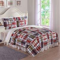 Laura Hart Kids Preppy Plaid 3-piece Quilt Set