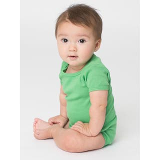 American Apparel Infant's Green Cotton Short Sleeve Bodysuit|https://ak1.ostkcdn.com/images/products/12137357/P18993898.jpg?impolicy=medium