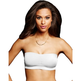 Maidenform Women's Dream Bandeau White Nylon Bra