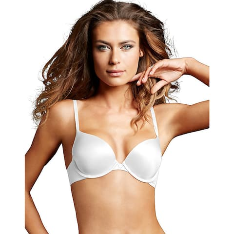 Custom Lift Women's White Polyester/Nylon/Spandex Tailored Demi T-shirt Bra