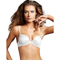 Custom Lift Women's White Polyester/Nylon/Spandex Tailored Demi T-shirt Bra