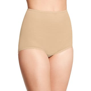 Bali Women's Skimp Skamp Nude Nylon/Spandex/Cotton Brief Panty