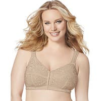 Just My Size Women's Nude Front-close Wirefree Bra