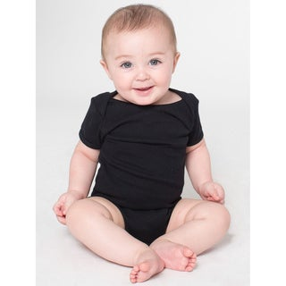 American Apparel Infant's Black Cotton Short-sleeve Bodysuit