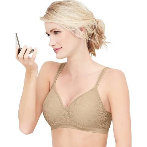 Bali Women's Comfort Revolution Nude Nylon/Polyester Swirl Wirefree Bra