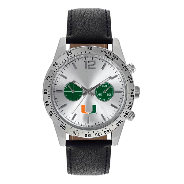 Miami Hurricanes NCAA Letterman Men's Watch