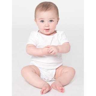 American Apparel Infants' White Cotton Short-sleeved Bodysuit|https://ak1.ostkcdn.com/images/products/12137495/P18993943.jpg?impolicy=medium
