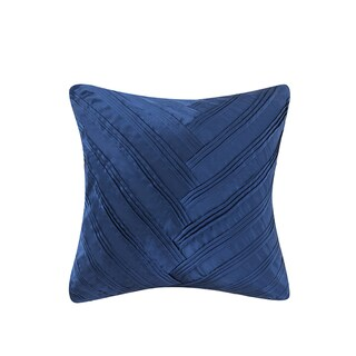 Vince Camuto Lyon Signature Polyester/Feather V-pleat 16-inch Square Throw Pillow (3 options available)
