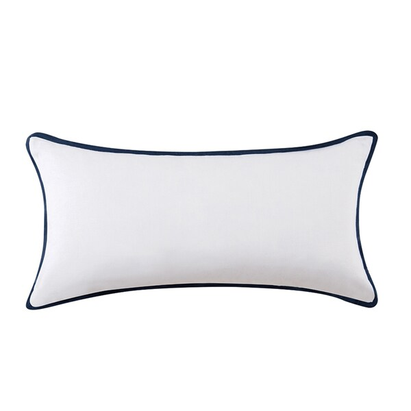 Vince Camuto Lyon Signature Cotton Bolster Throw Pillow
