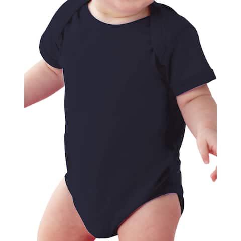 Rabbit Skins Black Fine Jersey Lap Shoulder Infant Bodysuit