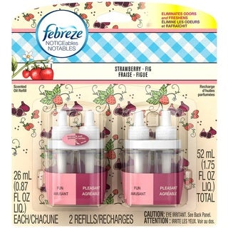 Febreze Noticeables Strawberry and Fig Dual Scented Refills (Set of 2)