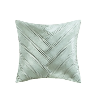Vince Camuto Signature V-pleat Seabreeze Polyester/Feather 16-inch Square Decorative Throw Pillow