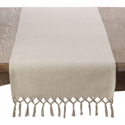 Knotted Tassel Design Table Runner