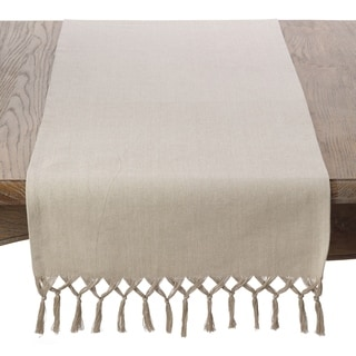 Bellaria Collection Knotted Tassle Design Table Runner