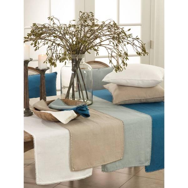 Shop Pompom Design Linen Dining Room Table Runner - Free ...