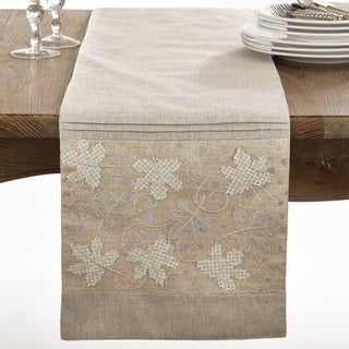Maple Leaves Collection Applique Maple Leaves Design Table Runner
