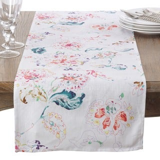 Primavera Collection Printed Floral Design Table Runner