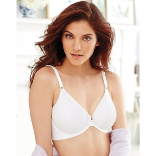 Bali Comfort Revolution Women's White Front-close Underwire Bra