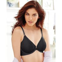 Bali Women's Comfort Revolution Black Front-close Underwire Bra