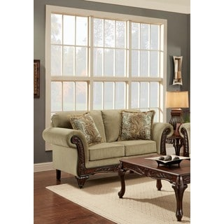 Chasity Traditional Taupe Loveseat