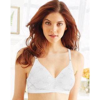 Comfort Women's White Revolution Convertible Wirefree Bra