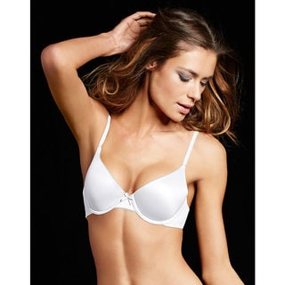 Comfort Women's White Stone Devotion Demi T-shirt Bra