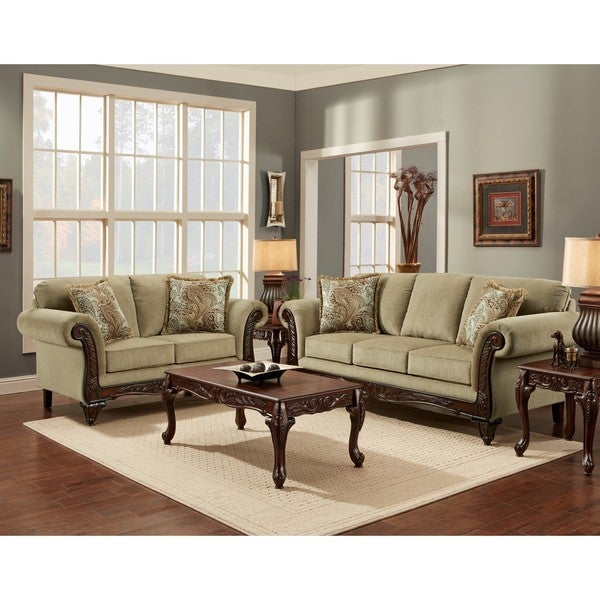 Sofa trendz chasity platinum 5 piece living room sofa set for 5 piece living room set