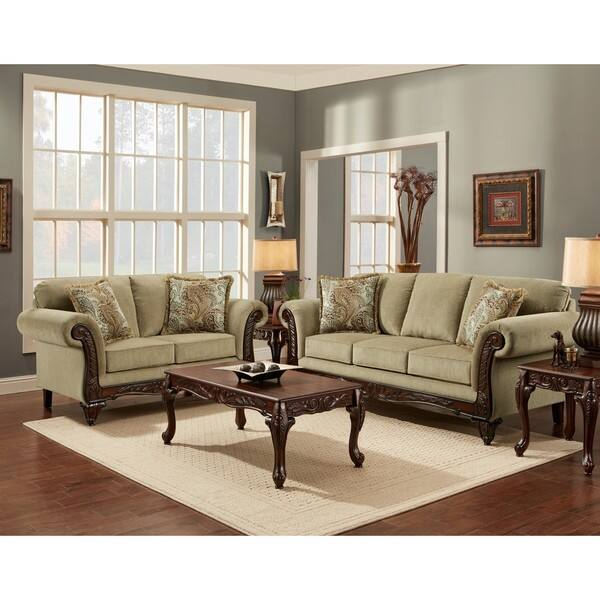 Shop SOFA TRENDZ Chasity Platinum 5-piece Living Room Sofa ...