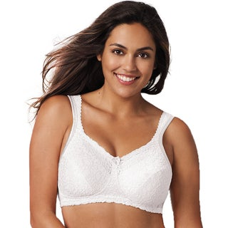 18-hour Women's Comfort Lace Wirefree Bra White