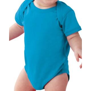 Rabbit Skins Blue Cotton Infant Bodysuit