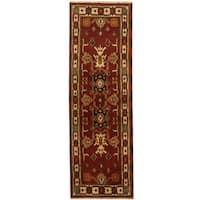 Herat Oriental Indo Hand-knotted Kazak Wool Runner (2'2 x 6'7) - 2'2 x 6'7
