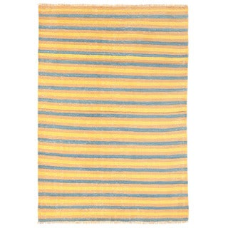 Herat Oriental Afghan Hand-woven Mimana Wool Kilim (3'3 x 4'10)