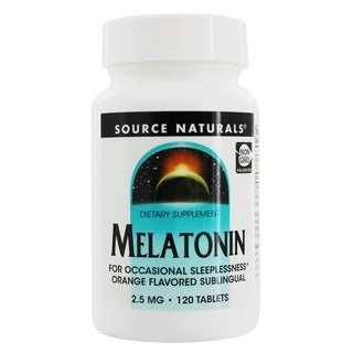 Source Naturals 2.5-milligram Melatonin (120 Tablets)