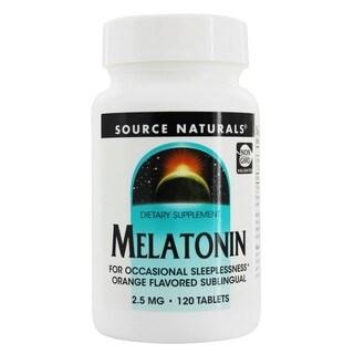 Source Naturals 2.5-milligram Melatonin (120 Tablets)